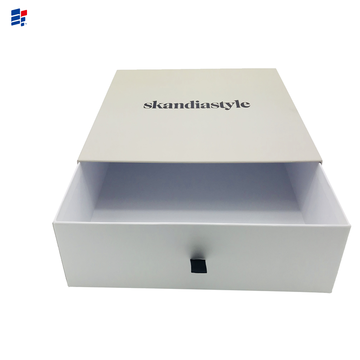 White simple drawer gift paper box
