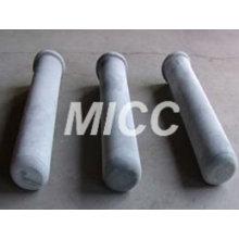 Tubo recristalizado de la protección del termopar del carburo de silicio / alto tubo del termopar del alúmina / tubo de cerámica del alúmina