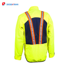 2018 Professional customized workwear LED safety reflective jacket