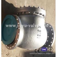Válvula de retenção Swing Wcb de grande diâmetro de 150 lb 20 polegadas