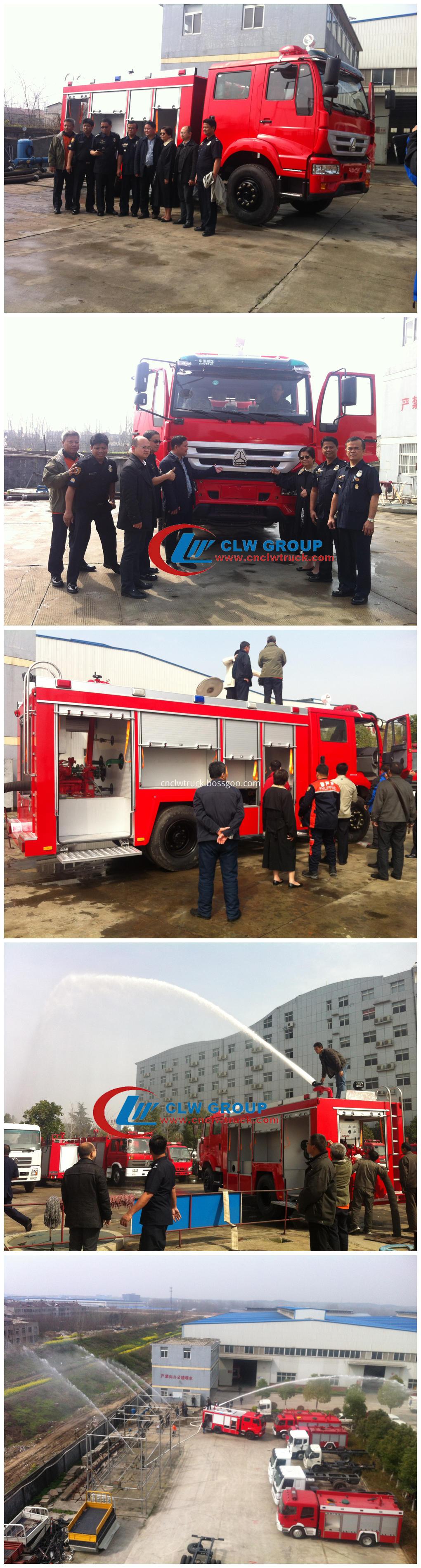 fire rescue truck customer visit
