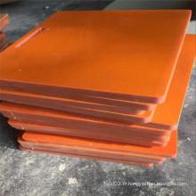 Composant d'équipement en plaque de bakélite noir / orange dur