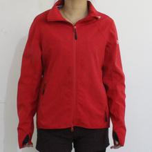 Яркий красный 4-полосная растягивается ткань водонепроницаемая плащи для взрослой женщины
