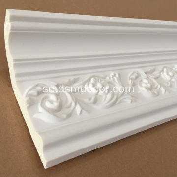 Rosette design PU Crown Moulding
