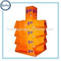 Super mercado prateleiras para promoção de vendas, prateleira de exposição promocional de papelão