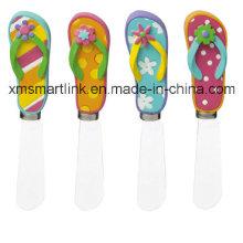 Polyresin Flip Flop Handle Decoration Butter Spreader Gadgets de cuisine