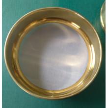 High quality Lab standard brass gold test sieve
