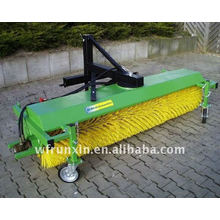 Tractor mounted 3 point hitch road sweeper