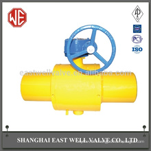 High quality 200mm pneumatic wheel fully welded ball valve