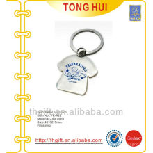 Souvenir T-shirt shape metal keychains for famous brands