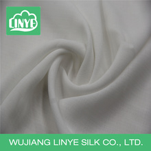 pure white cotton-like 100% polyester slub fabric
