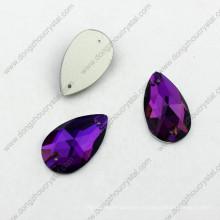 La forma al por mayor colorida colorida de la gota trasera de China cose en la piedra