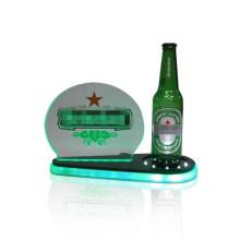 Illuminated Beer Bottle Display, Acrylic Liquor Drinks Display