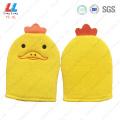 Duck animal gloves bathing massaging item