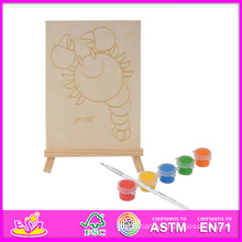 2014 New Play Kids Wooden Paint Kit, Cheap DIY Children Wooden Paint Kit Toy, Educational Baby Toy Wooden Paint Kit Set W03A049