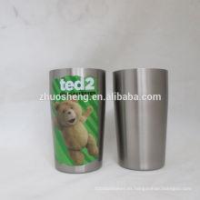 tazas de té blanco por mayor de alta calidad de impresión de la insignia de encargo