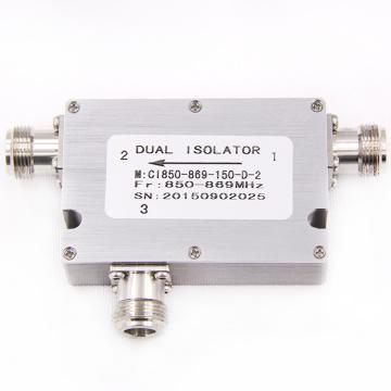 Vente chaude faible pim din 850-869 mhz ethernet coaxial optique rf circulateur isolateur