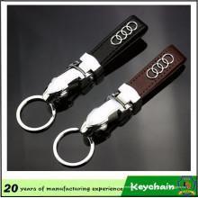 Chine usine Leopard forme Leather Keychain avec Logo de voiture