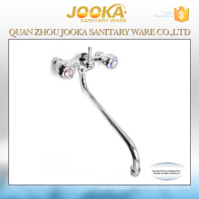 Wall mounted slow open dual handwheel bathtub mixer