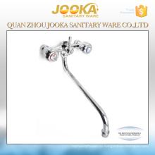 Настенный медленно открыть двойной маховик смесителя ванной