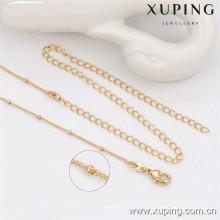 42834 Xuping novo 18k cor de ouro 8 grama projetos de corrente de ouro