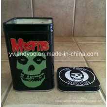 Scented Soy Travel Candle in Black Square Tin for Halloween