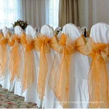 Polyester housses de chaise pour mariage/banquet