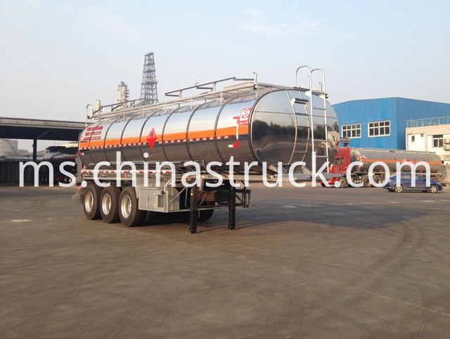 30cbm Liquid Sulfur Tanker Trailer