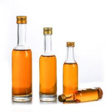 50ml 100ml 150ml 250ml long neck glass vodka bottle series with screw top lid