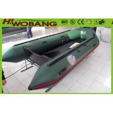 Exército verde militar inflável PVC resgate barco