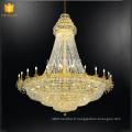 Cristal d'or lampe d'éclairage de luxe cristal luminaire lustres de cristal Moyen-Orient lustre