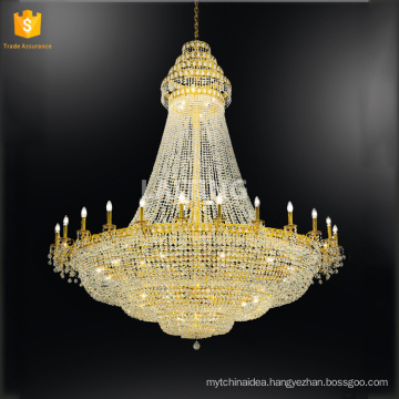 Gold Crystal Lighting Lamp Luxury Crystal Fixture Lights Lusters de cristal Middle East Chandelier