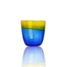 Bougeoir en verre coloré de 9 oz