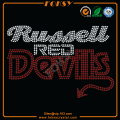 Russell Red devil rhinestone hotfix transfers