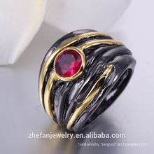 Wholesale alibaba ring black plating finger rotating rings