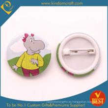 Insignia del botón del estaño en el logotipo del hipopótamo de China