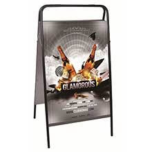 Outdoor Movable pavement Poster display benner For Advertising