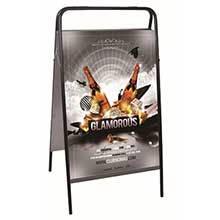 Напольная подвижная покрытия дисплея плаката беннер для рекламы