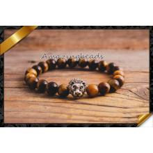 Pulseras de la joyería del ojo del tigre para la fabricación de la joyería de DIY (CB059)