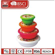 Plástico redondo envase de alimento