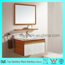 European Modern Single Basin Bathroom Vanity with Wall Mounted