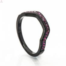 Jóia de cobre preta elegante Wedding Box Bag Gold Long Finger Ring
