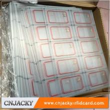 Tarjeta de RFID del embutido de la eficacia alta RFID UHF / etiqueta de 13.56Mhz RFID