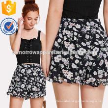Calico Print Frill Hem Shorts Manufacture Wholesale Fashion Women Apparel (TA3018B)