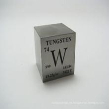 Fabricación de 1 kg de cubo de tungsteno puro para escritorio