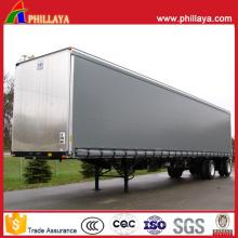 Trailer forte fechado Van da caixa de alumínio de 3 eixos semi