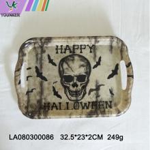 Halloween-Motto-Party mit Totenkopf-Platten