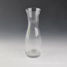 Vase en verre transparent de vente chaude