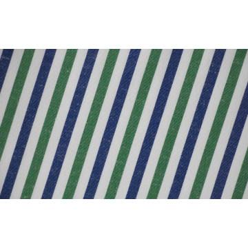 Зеленый, темно-синий полоски комфортабельных Пряжа окрашенная ткань рубашки