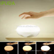 2017 latest technology gifts IPUDA led sensor night light with zero touch dimmable control rechargeable battery